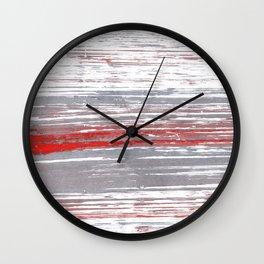 Red-gray abstract Wall Clock