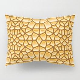 Pure Gold Voronoi Pillow Sham