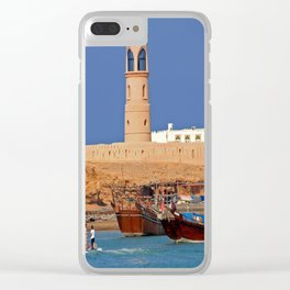 Oman Sur port Clear iPhone Case