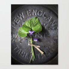 Violet Bouquet - New England Wildflower Canvas Print