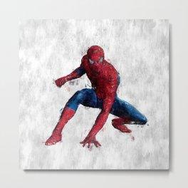 Spider Man Hero Metal Print