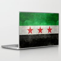 "islam Laptop & iPad Skins featuring The Syrian ""independence flag""  retro style version by Bruce Stanfield"