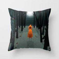 Woods Girl Throw Pillow