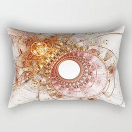 Fiery Temperament - Abstract Fractal Artwork Rectangular Pillow