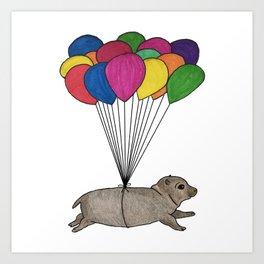 A Smol Hippo Art Print