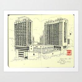 [SA-1008]  Hotel Novotel, Clarke Quay, Singapore Art Print