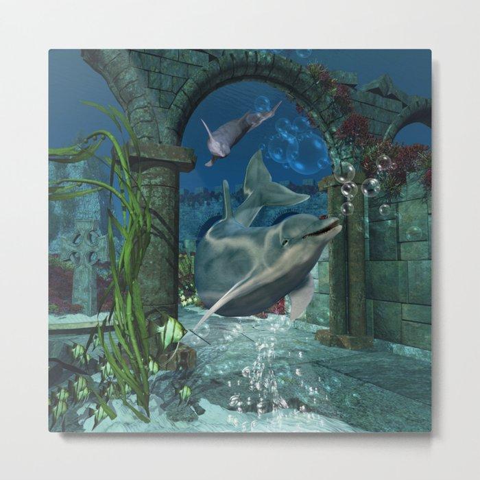 Wonderful dolphin Metal Print