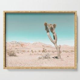 Vintage Desert Scape // Cactus Nature Summer Sun Landscape Photography Serving Tray