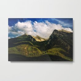 All That Is Above - Mountainscape Metal Print