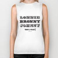 lebron Biker Tanks featuring Lonnie, Bronny, Johnny by Melissa Olson