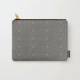 Going round and round - Orange/Taupe/Teal Carry-All Pouch