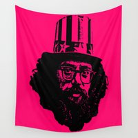 literature Wall Tapestries featuring Outlaws of Literature (Allen Ginsberg) by Silvio Ledbetter