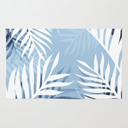 Tropical bliss - chambray blue Rug