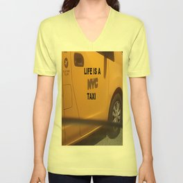 Life is a NYC Taxi Unisex V-Neck