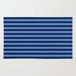 Slate blue and Light Blue Thin Stripes Rug