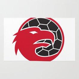 European Eagle Handball Mascot Rug