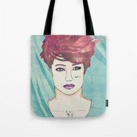 exo Tote Bags featuring Exo Kai by Isaacson1974
