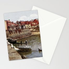 Aquarelle St Ives Cornwall Seagulls in the harbour Stationery Cards