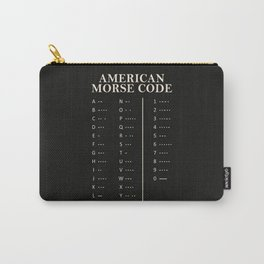 American Morse Code Carry-All Pouch