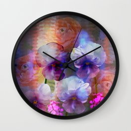 Paint me a garden Wall Clock