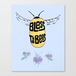 Bless the Bees Canvas Print