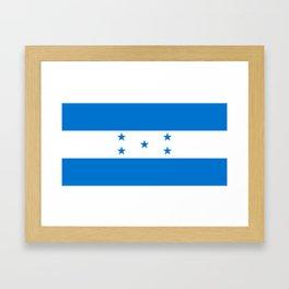 Flag of Honduras Framed Art Print