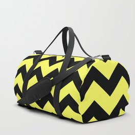 Chevron (Black & Yellow Pattern) Duffle Bag