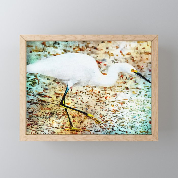 Gulf Coast Snowy Egret Framed Mini Art Print