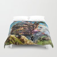 chihiro Duvet Covers featuring howl's moving castle by ururuty