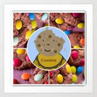 cookie Art Prints featuring Cookie by Jolly Songbird