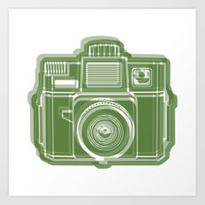 I Still Shoot Film Holga Logo - Green Art Print