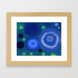 Rocks or Water - Fireflies 3 Framed Art Print