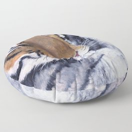 Nice Putty Cat by Teresa Thompson Floor Pillow