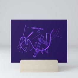 Kandinsky - Purple Abstract Art Mini Art Print