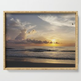 Sunrise over Water Serving Tray
