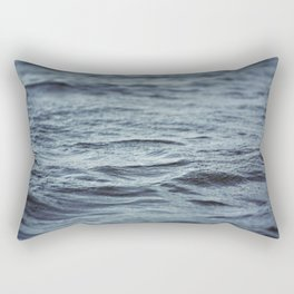 Carved Waves Rectangular Pillow