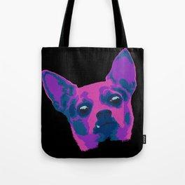 chihuahua - blk Tote Bag