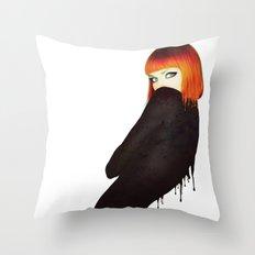 The Girl 5 Throw Pillow