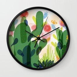 cacti life | Happy modern art | Wall art and  cubicle decor Wall Clock