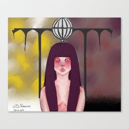 Violetta Autumn and The Tower Canvas Print