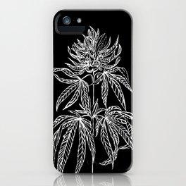 Reverse Cannabis Illustration iPhone Case