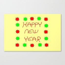 happy new year 3 Canvas Print