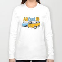 vw bus Long Sleeve T-shirts featuring VW Camper Van Surf Bus by VelocityGallery