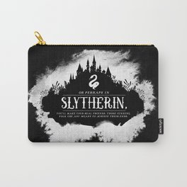 Slytherin B&W Carry-All Pouch