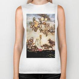 """""""A Dish of Apples"""" Fairy Art by Arthur Rackham Biker Tank"""