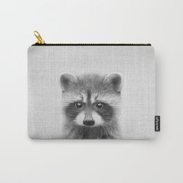 Raccoon - Black & White Carry-All Pouch
