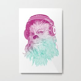 Wookie Beats - Chewie Rockin' some tunes Metal Print