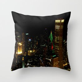 A Christmas Skyline in Chicago (Chicago Christmas/Holiday Collection) Throw Pillow