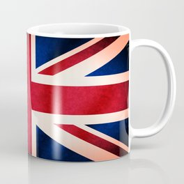 Union Jack UK British Grunge Flag  Kaffeebecher