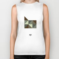 oregon Biker Tanks featuring Geometric Oregon by INDUR